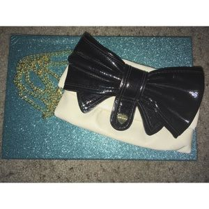 Betsey Johnson Faux Patent Bow Bag